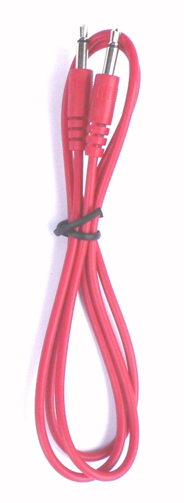 Doepfer A-100C80 3.5mm Male Mono Eurorack Modular Patch Cable red, 80cm long